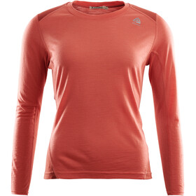 Aclima LightWool Sportshirt Dames, burnt sienna/red ochre